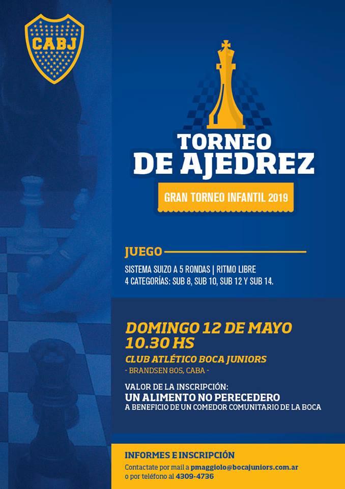 publi torneo esolar en Boca 12 de mayo