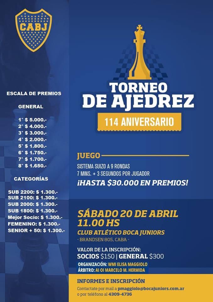 publicidad Boca torneo 114 aniversario 2019