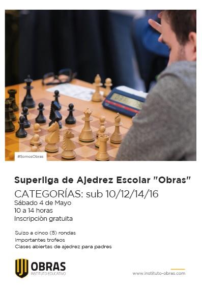 torneo ajedrez escolar en obras 4 de mayo
