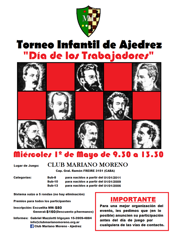 torneo escolar Mariano Moreno 1ro de mayo