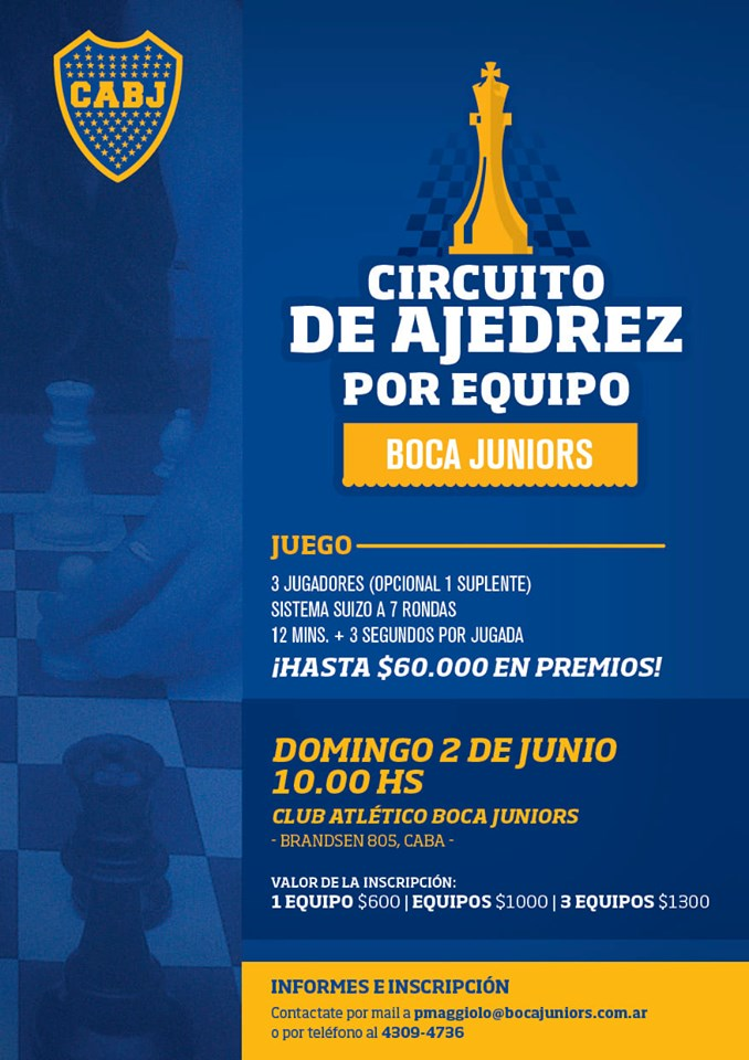 nueva fecha torneo en Boca x equipos