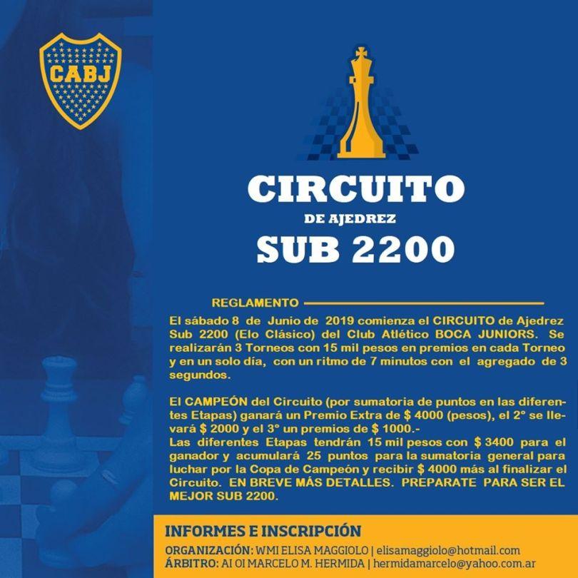 nuevo circuito sub2200 en BOCA