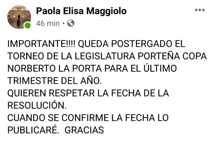 postergacion legislatura